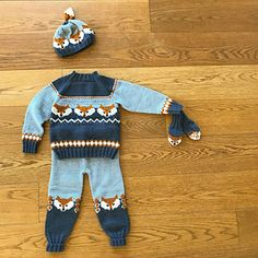 Ravelry: Fox sweater pattern by Eva Norum Olsen Designer Knitting Patterns, Kids Knitting Patterns, Knitting For Kids, Knitting Designs, Fox Pattern, Pattern Design, Fox Sweater, Fox Hat, Pullover