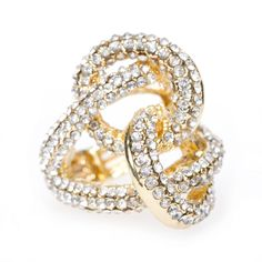 This would be great in diamond <3 (Rhinestone Knot Ring)