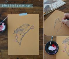 Free Printable Bird Coloring Pages – DIY Bird Art with Kids – Paint Your Own Birds | Small for Big