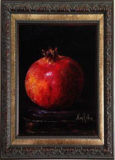 Pomegranate GarnetOriginal Oil Painting by Nina by NinaRAideStudio