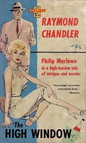 The High Window Raymond Chandler 1961 Pulp Fiction Comics, Pulp Fiction Book, Crime Fiction, Detective, Raymond Chandler, Vintage Book Covers, Pulp Magazine, The Draw, Vintage Comics