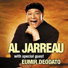 Al Jarreau - Il progetto live fa seguito alla recente collaborazione discografica tra questi due mostri sacri della musica internazionale, entrambi vincitori di Grammy Awards.    Durante il concerto le hit più grandi di Al Jarreau e Eumir Deodato verranno aff...