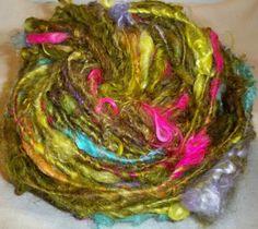 Janice Rosema Handspun | If You Knew Sushi | Namaste Farms fibers | corespun using SpinOlution Mach III wheel