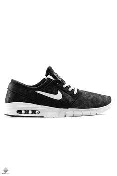 Buty Stefan Janoski Max Nike Sb, Nike Air Max, Janoski Max Black, Stefan Janoski Max, Nike Skateboarding, Air Max 1, Nike Free, Vans, Sneakers Nike