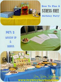 Part 2 in our How To Plan A Stress Free Party, series! Part 2 includes ideas for set up and layout for a little boy's, first birthday party! Easy, quick and complete with details on how to pull it all together!