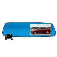 Rexing G099 Car DVR Rear View Mirror Tachograph Dual Lens Blue Ray Wide Aangle Night Vision HD 1080P
