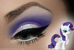 Love the make-up and My Little Pony!   #missbeautyaddict.com