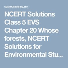23 Best NCERT Solutions Class 5 EVS images in 2018