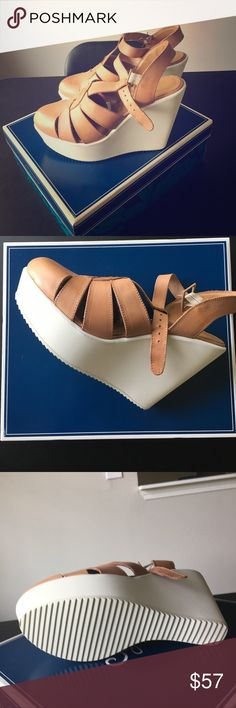 Seychelles Genuine Leather Wedge-Summer Fun! BRAND NEW, NEVER WORN, GENUINE LEATHER amazing wedge that would look so cute with any outfit! Seychelles Shoes Wedges