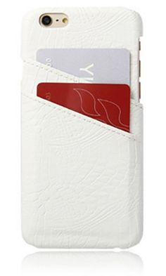 Keep You Close White Croco Embossed Credit Card Phone Case