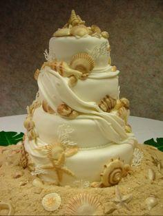 wed seashell cake
