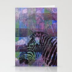 Gel Zebra Profile Stationery Cards by Rachel Winkelman - $12.00