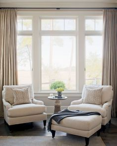 Living Room windows can dramatically change the look of your living room. Living room windows can add light to your room, enhance your wall colors or furniture Home Bedroom, Home Living Room, Living Room Decor, Dining Room, Master Bedroom Chairs, Master Bedrooms, Armchair Living Room, Bedroom Furniture, Seating In Bedroom