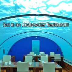 Bucket list: travel to the Maldives to eat at Ithaa. It's an underwater restaurant!