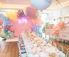 Here's the Scoop Pastel Ice Cream Party on Kara's Party Ideas Birthday Party Celebration, Birthday Fun, 1st Birthday Parties, Birthday Party Decorations, Pastel Party Decorations, Decoration Party, Birthday Ideas, Pastell Party, Idee Baby Shower