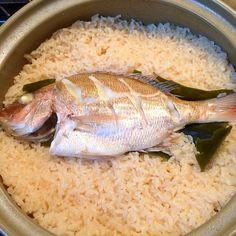 土鍋でコトコト おこげも美味しい♡ - 15件のもぐもぐ - 鯛めし by rsm