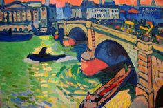 London Bridge, winter - by André Derain (1906). #PaintedLondon