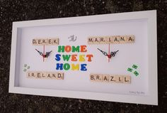 Personalized Clocks, Clock For Kids, Childrens Gifts, Sweet Home, Frame, Handmade, Home Decor, Picture Frame, Hand Made