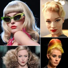 Pin for Later: Retro Runway: The Best Vintage-Inspired Hair and Makeup Looks