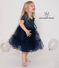 Girls Denim Fluffy Dress POLLY. Limited Collection, Princess Style, Birthday Dresses, Body Types, Dress Collection, Simple Designs, Tulle, Girls Dresses, Daughter