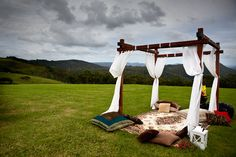 Boho wedding. Bohemian wedding. Wedding chill out zone. Wedding picnic. Real Wedding: Joy and James in a Marquee in Maleny | The Bride's Tree - Sunshine Coast Wedding
