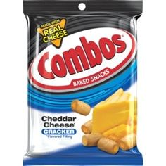 COMBOS Cheddar Cheese Cracker Baked Snacks Bag Pack of 12 for sale online Combos Snacks, Pretzel Cheese, Nutrition Data, Filling Snacks, Cheese Snacks, No Bake Snacks, Smoothie Drinks, Smoothies, Cheddar Cheese