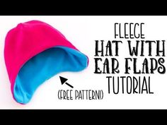 3473796d1ab This fleece hat with ear flaps pattern has an easy to follow tutorial and  free pdf