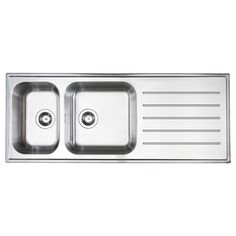 Pieces parts kitchen might need a new sink. BOHOLMEN 2 bowl inset sink with drainer - IKEA