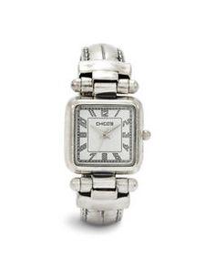 Chicos Ox Cuff Bracelet Watch   eBay