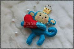Cute Monkey Keyholder - Free pattern and step by step Photo tutorial - Bildanleitung und gratis Schnittvorlage - Обезьянка – брелок своими руками