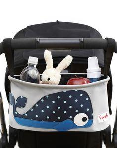 Kinderwagen-Tasche WAL in grau/blau