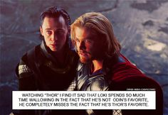 Thor and Loki. Oh don't mind me. I'm just crying my feelings out in this corner.