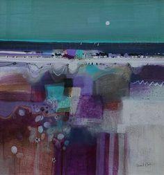 Emma S DAVIS-Three Sails and Moonlight