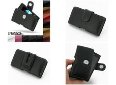 PDair Leather Case for Sony Xperia Go ST27i - Horizontal Pouch Type (Black)