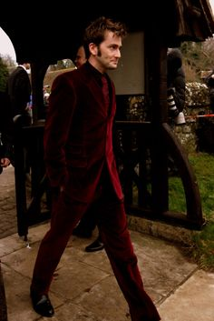 He's pulling off a velvet suit, people. THAT is impressive.