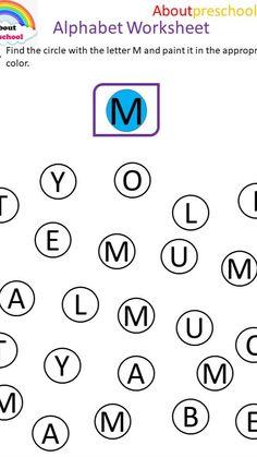Alphabet Worksheet J-K-L-M