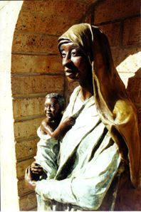 Black Madonna and Child, located in a Chapel in Europe. Orthodox Christian Churches, for the most part, unlike Catholic and Protestant Churches, have allowed the original Black Christians to remain Black.