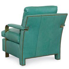 Elle Leather Brass Arm Chair by Tobi Fairley @Zinc_Door
