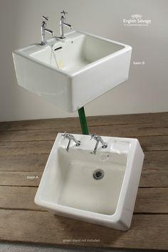 Salvaged Large Wooden Elm Kitchen Sink | BATHROOM | Pinterest ...