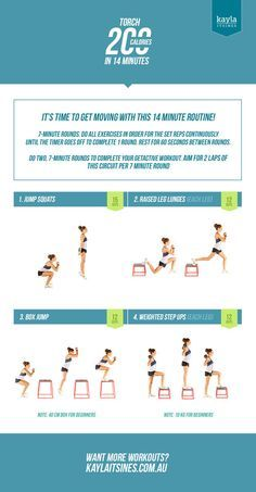 Torch 200 Calories in 14 Minutes — Kayla Itsines