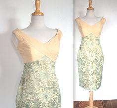 Vintage 1960s Style Dress // 80's Pistachion by TrueValueVintage, $125.00
