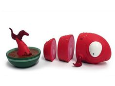 """From the creative genius of artist Andrew Bell comes the """"O-No Sashimi"""" Vinyl Toy. A Super Rad addition to any vinyl toy collectors shelf"""