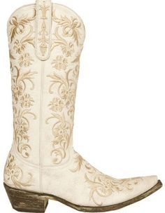 Ladies Western Boots | ... white embroidered old gringo western ...