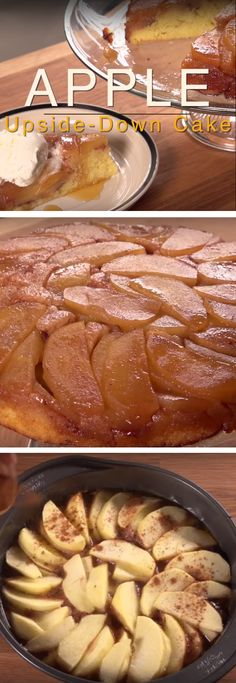 Apple Upside-Down Cake Recipe | You may have heard of the classic pineapple upside down cake, well here's a new one to add to your repertoire using the beloved apple. It takes a little love, but makes for a beautiful dessert display!