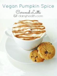 THE BEST #Vegan #Skinny #Healthy Pumpkin Spice Caramel Latte has been such a hit this week! Have you tried it? Isn't it amazing!!? #glutenfree #dairyfree #vancouver #pumpkinspicelatte #coffee #falldrinks http://www.damyhealth.com/2013/09/vegan-pumpkin-spice-caramel-latte/