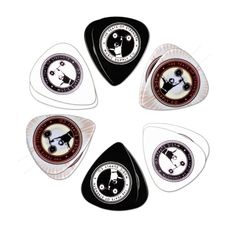 Guitar Picks 12 Pack Variety , Medium .73mm Black , White, and Custom Color, Cool Strongman Design The Feats of Strength - Music Supply Co.