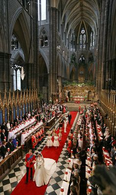 Royal wedding of Duke & Duchess of Camridge in Westminister Abbey on April 29, 2011