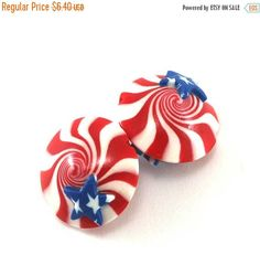 SPRING SALE polymer clay lentil beads US focal beads
