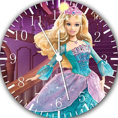 Barbie Doll Wall Clock 10' Will Be Nice Gift and Room Wall Decor W366 ** For more information, visit image link. (This is an affiliate link and I receive a commission for the sales)