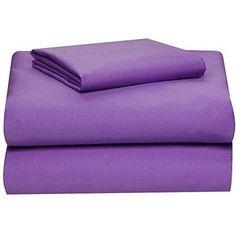 Dorm Room Twin Sheet Set XL Cotton Rich Machine Washable 3 Piece Bedding Cover  #DormRoomTwinSheetSet